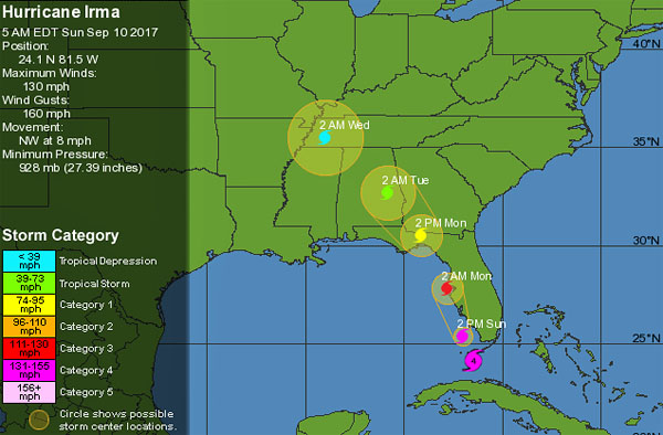 Live! See where Hurricane Irma is right now - WND