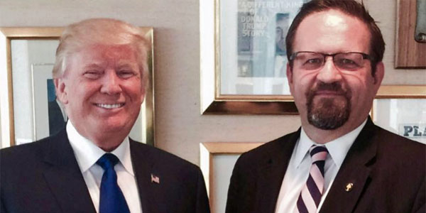 President Trump and former Trump adviser Sebastian Gorka (Photo: Facebook/Sebastian Gorka)