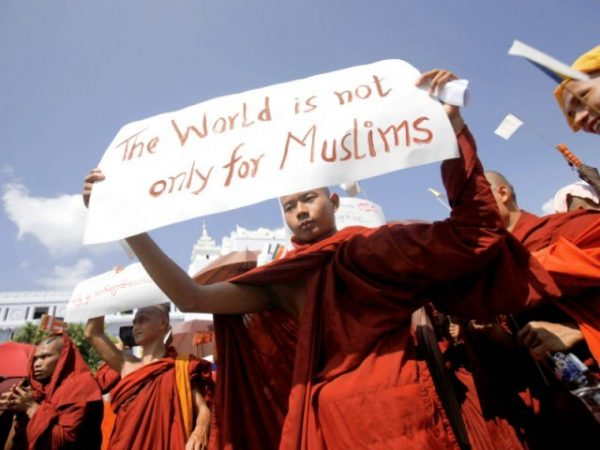 Burmese monks rally against Islam, which they see as a threat to their religious future.