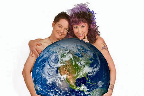 Elizabeth Stephens, art professor, 'eco-sex' expert and chairwoman of the art department at the University of California at Santa Cruz and her 'wife,' Annie Sprinkle (Photo: UCSC)