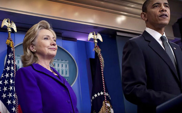 Hillary Clinton and Barack Obama at the White House (HillaryClinton.com)