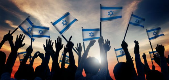 israel-flag-children-people