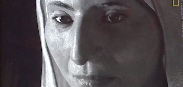 Re-creation of Mary Magdalene's face? (Image from video)