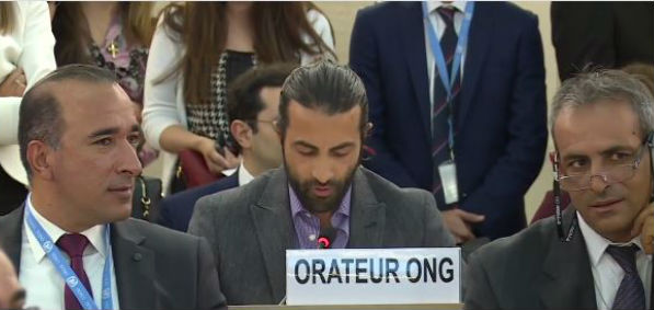 Mosab Yousef testifies before the U.N. Human Rights Council Sept. 25, 2017