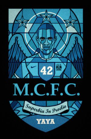 "Part of ""Football religion"" series, Yaya Touré by David Flanagan"