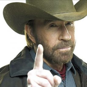 Actor and martial artist Chuck Norris