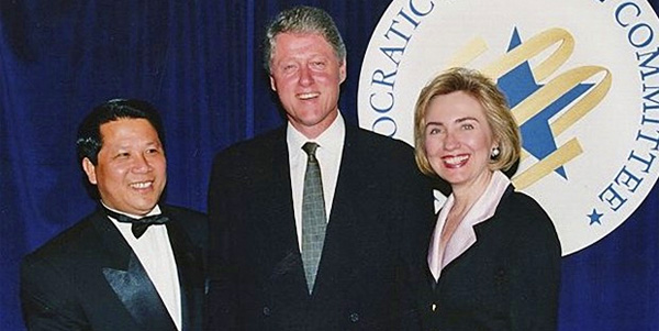 Bill and Hillary Clinton with Mg Lapseng, whose main business was his Fortuna hotel and hostess service of brothels