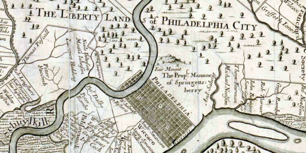 Early map of Philadelphia