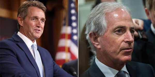 U.S. Sens. Jeff Flake, R-Ariz., and Bob Corker, R-Tenn., outspoken critics of President Trump, have both announced their plans to leave the Senate at the end of their terms