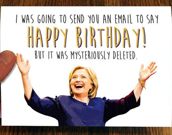 America Showers Hillary With Side Splitting Birthday Wishes