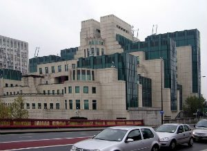Headquarters of the British spy agency MI6 in London.