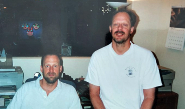 Suspected Las Vegas shooter Stephen Paddock (right) with his brother, Eric Paddock (left), who said he felt like an asteroid hit his family (Photo: Twitter)