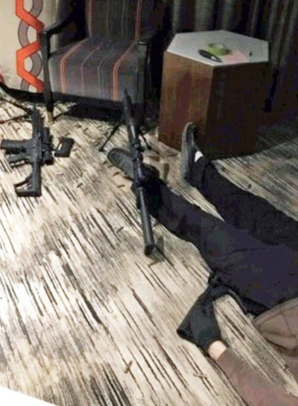Photo reportedly shows Vegas shooters body after he killed himself in his hotel room Sunday evening