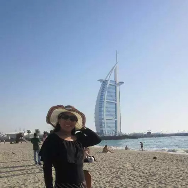 Marilou Danley in Dubai (Photo: Facebook)