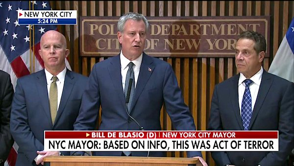 Mayor Bill De Blasio, D-New York City