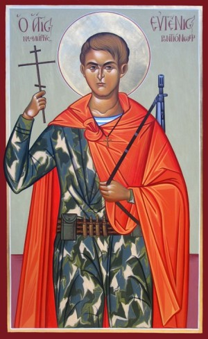 Russian icon of Saint Evgeny Rodionov the New Martyr of Chechnya