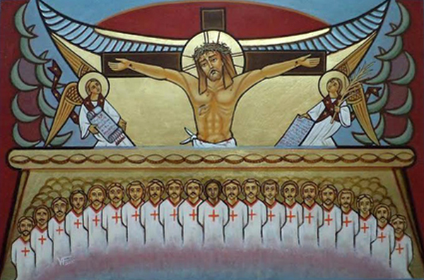 """The souls under the altar""; commemorative icon by Fakhoury"