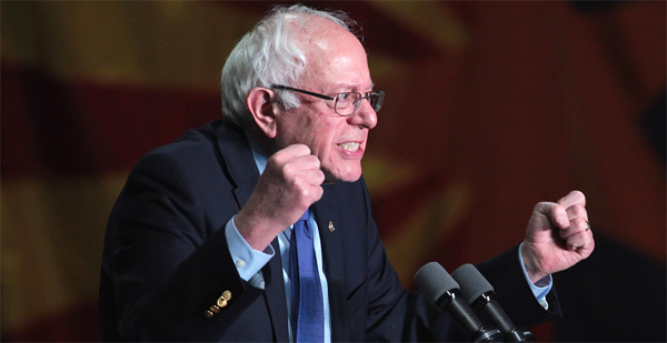 Bernie Sanders feelin' 'the bern' (Photo: Wikimedia Commons)