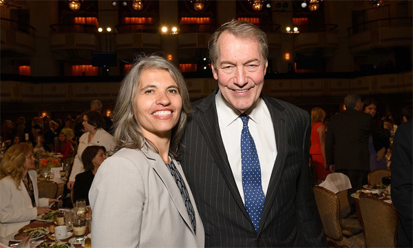 Charlie Rose and executive producer Yvette Vega (Photo: Wikimedia Commons)