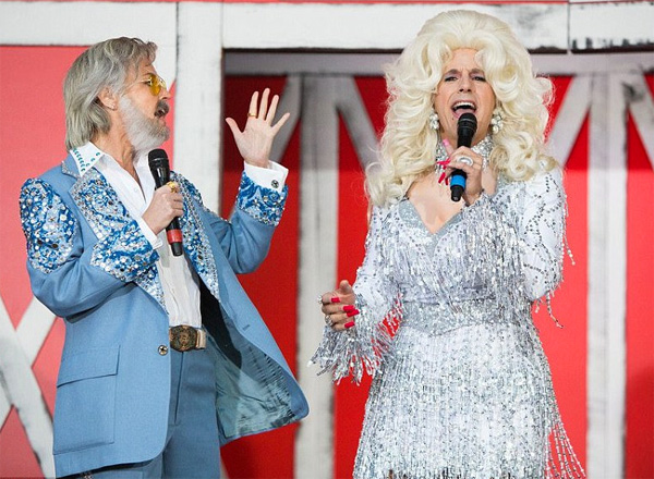 During a Halloween segment in 2017, Matt Lauer dressed as country singer Dolly Parton and co-host Savannah Guthrie dressed as Kenny Rogers (Photo: Twitter/'Today' show)