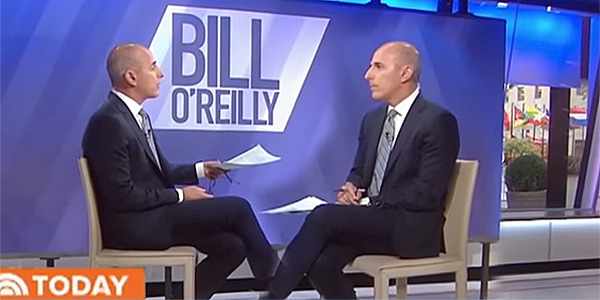 """Today"" host Matt Lauer interviews fired Matt Lauer about sexual allegations against him (Photo: YouTube screenshot)"