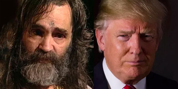 The late serial killer Chalres Manson and President Trump