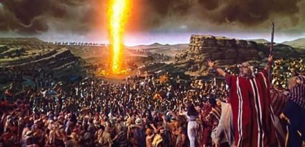 Scene from the 1956 movie 'The Ten Commandments'