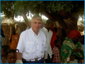 The author, William J. Murray, in Darfur during war waged by Sudan (2006).
