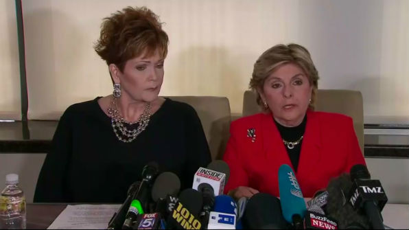 Beverly Young Nelson, left, with lawyer Gloria Allred, at a news conference Nov. 13, 2017, declaring she was sexually assaulted by U.S. Senate candidate Roy Moore when she was 16.