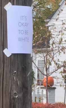 Sign on telephone poll in Rocky River, Ohio