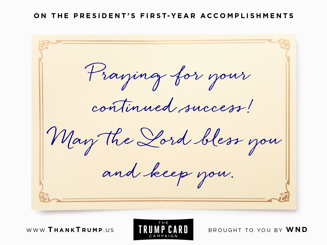 Thank Trump Card #1