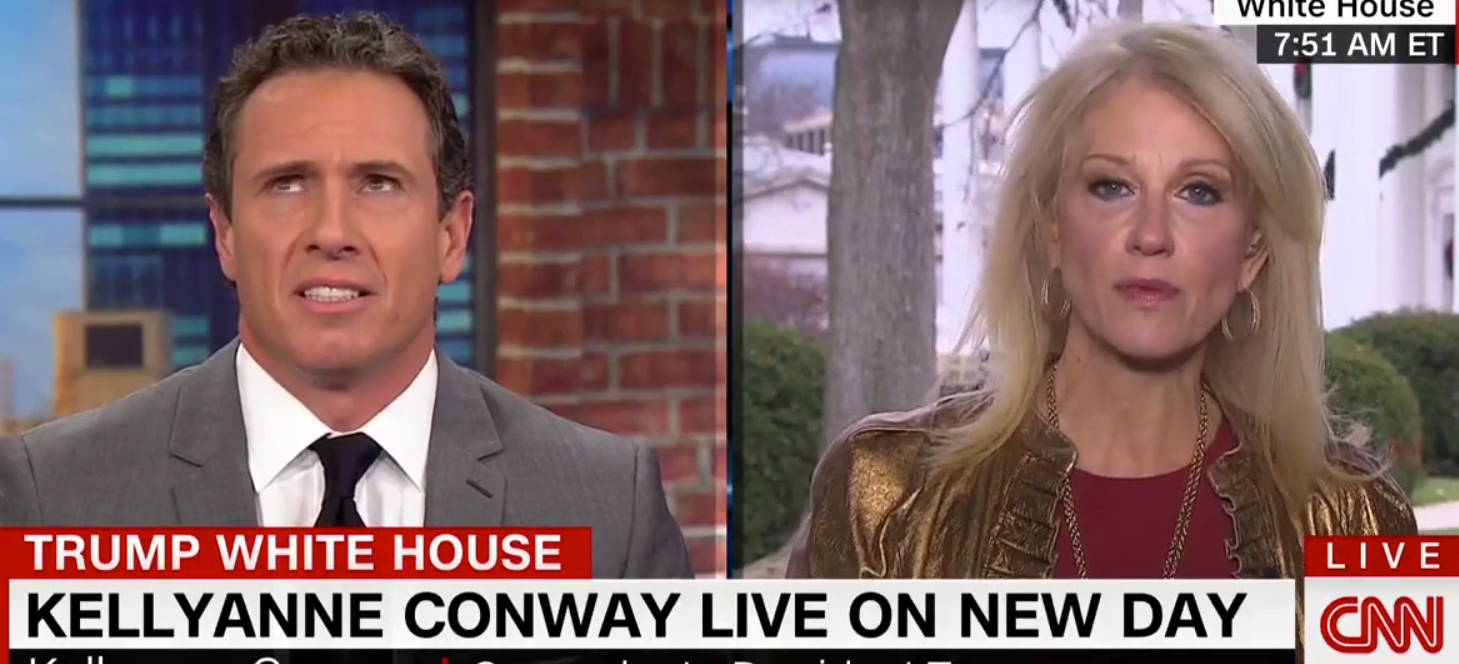 'Lots of bananas': Kellyanne Conway grapples with CNN host