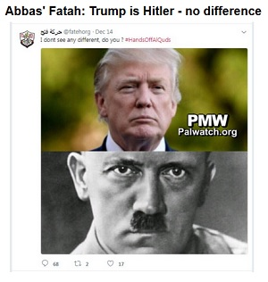 Image comparison President Trump to Hitler