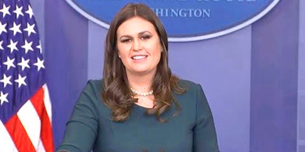 White House Press Secretary Sarah Sanders (Photo: YouTube screenshot)
