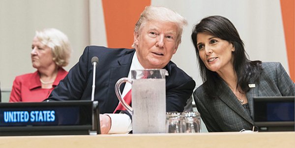 President Trump and U.S. Ambassador to the U.N. Nikki Haley (Photo: Twitter/Nikki Haley)