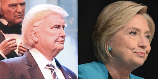 Disney's animatronic of 'President Trump' actually looks like Hillary Clinton, say Twitter users (Photo: Twitter/Jolly Old Saint Mick)