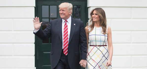 President Trump and wife, Melania (Official White House photo by Andrea Hanks)