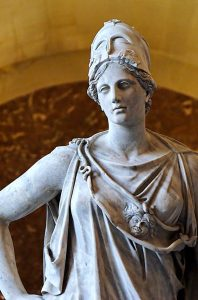 A statue of Athena at the Louvre (public domain)