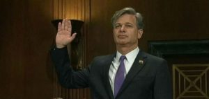 FBI Director Christopher Wray sworn in at House Judiciary Committee hearing Dec. 7, 2017.