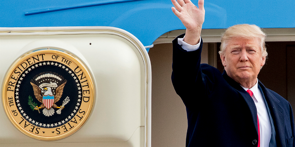 President Trump boards Air Force One (White House photo)