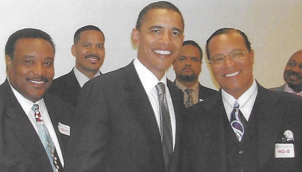 Barack Obama with Louis Farrakhan
