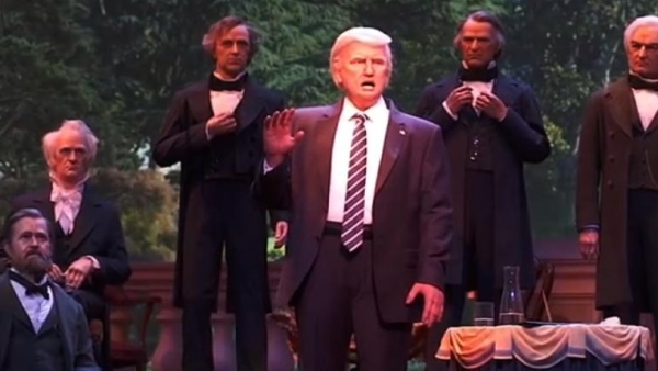 Trump joins the ranks at Disney's Hall of Presidents