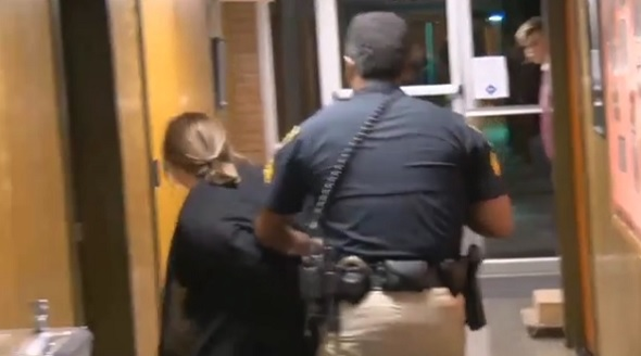 Louisiana teacher handcuffed forcibly after asking questions at board meeting