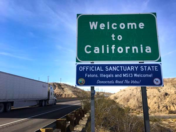 Sanctuary State Signs Pop Up In California. July Zodiac Signs. Treating Trichomoniasis Signs. Silhouette Lettering. Label Printer. Rat Decals. Gfx Logo. Homemade Banners. Heart Black And White Decals