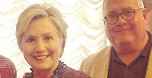 Hillary Clinton and former faith adviser Burns Strider (Photo: Twitter)