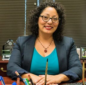 "Outspoken #MeToo campaigner Cristina Garcia – a California assemblywoman who captured national media attention as a ""silence breaker"" in the movement – reportedly told her staffers that having sex with elected officials ""was a good was of getting information"" from them (Photo: Pomona College)"