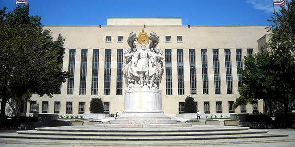 E. Barrett Prettyman Federal Courthouse in Washington D.C. where secret FISA court reportedly operates