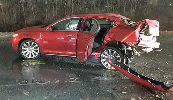 This car was transporting Colts linebacker Edwin Jackson, 26, and driver Jeffrey Monroe, 54
