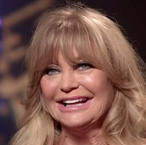 Goldie Hawn (Australian TV interview screenshot)