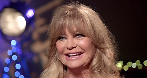 Goldie Hawn (Australian TV interview screenshot)